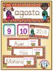 Spanish Calendar Pocket Chart Bundle for Fall - Canadian Version