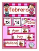 Spanish Calendar Pocket Chart Bundle for Spring