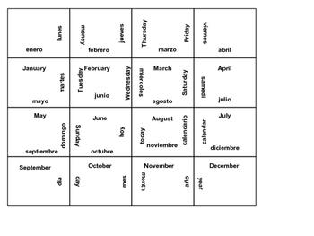 Spanish Calendar Puzzle