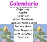 Spanish Calendar SMARTboard Games