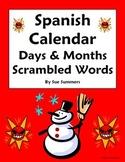 Spanish Calendar Scrambled Words - Days, Months, Seasons & Images