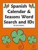 Spanish Calendar & Seasons Word Search & IDs - Calendario