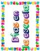 Spanish Calendar Sentence Frames--Bilingual/Immersion{date