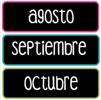 Spanish Calendar Set
