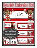 Spanish Calendar Set for July - Canada Day theme (for pocket chart calendars)