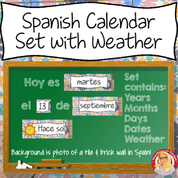 Spanish Calendar Set including Weather