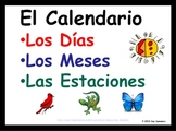 Spanish Calendar Signs - Days, Months, and Seasons - Calendario