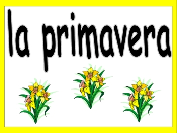 Spanish Calendar Signs - Days, Months, and Seasons - Calendario