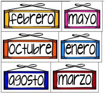 Spanish Calendar Toppers