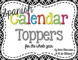 Spanish Calendar Toppers [for the whole year!]