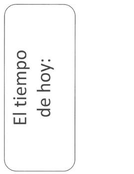 Spanish Calendar/Weather Bulletin Board: Labeled Blanks