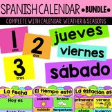 Spanish Calendar, Weather and Seasons BUNDLE
