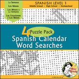 Spanish Calendar Word Search Bundle  Meses Semana Estaciones Months Days Seasons