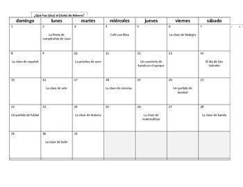 Spanish Calendar and Date InfoGap