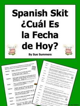 Spanish Calendar and Dates Skit / Role Play / Speaking Act