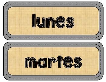 Spanish Calendar and Season Labels
