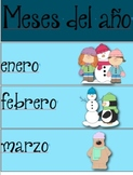 Spanish Calendar and Weather Vocabulary Labels