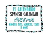 Spanish Calendar for Bulletin Board - Chevron