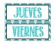 Spanish Calendar for Bulletin Board - Chevron