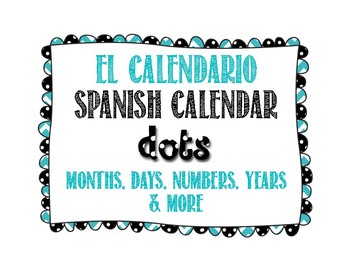 Spanish Calendar for Bulletin Board - Polka Dots
