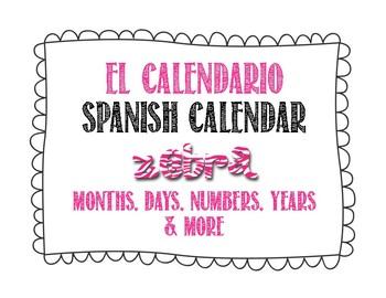 Spanish Calendar for Bulletin Board - Zebra