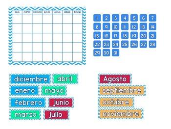 "Spanish Calendar freebie (24"" X 18"") /  Calendario"