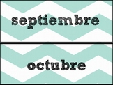Spanish Calendar months meses en español