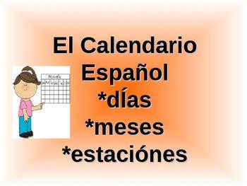 Spanish Calendario ppt