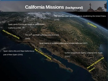 Spanish California Missions 4 causes 4 figures 4 events 4 effects (25-slide PPT)