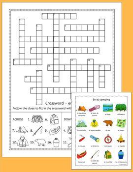 Spanish Camping Vocab Puzzles