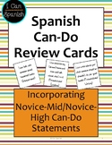 Spanish Can-Do Review Cards II: Novice-Mid to Novice-High