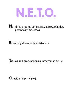 Spanish Capitalization Anchor Chart