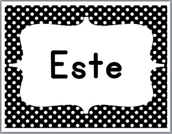 Spanish Cardinal Directions Signs -  Polka Dot Classroom Decor