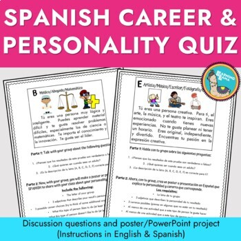 Spanish Career and Personality Quiz