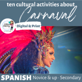 Spanish Carnaval - Six Cultural Writing, Speaking and Listening Activities