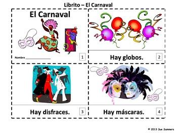 Spanish Carnival Booklets - Libritos El Carnaval