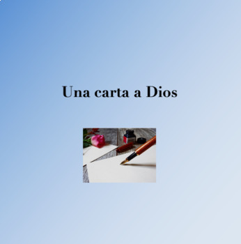 "Spanish ""Una Carta a Dios"" Short Story Vocabulary Powerpoint"