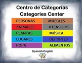 Spanish Categories / Categorias in a Station / Center Activity