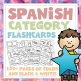 Spanish Category Vocabulary Flashcards - 100+ Page Mega Pack! 12 categories