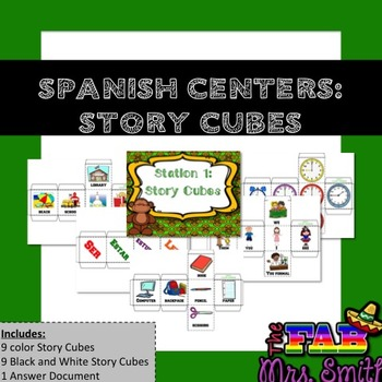 Spanish Centers: Story Cubes
