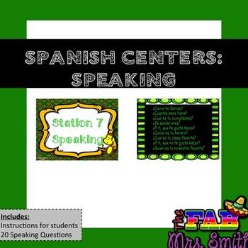 Spanish Centers: SPEAKING