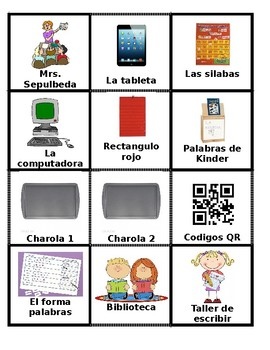 Spanish Center Labels