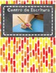Spanish Center Labels with Space for Velcro Tags (Yellow, Red, and Orange Theme)