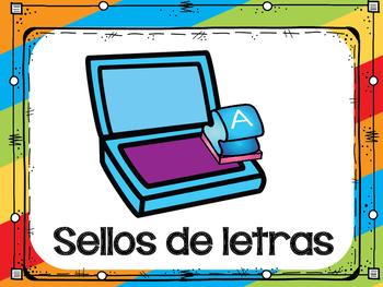 Spanish Center Rotation System/ Rótulos para los centros