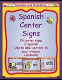 Spanish Center Sign Cards