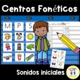 Spanish Phonics  Centros foneticos 001: Initial Sound Picture Sort A-Z DIGITAL