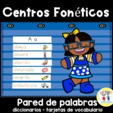 Spanish:  Centros foneticos 005: A-Z diccionario - pared d