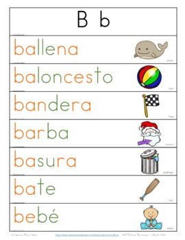 FREE SAMPLE:  Centros foneticos 005: A-Z diccionario - pared de palabras