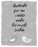 Spanish Cervantes quote poster - friendship