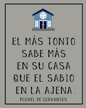 Spanish Cervantes quote poster - tbe wisest man